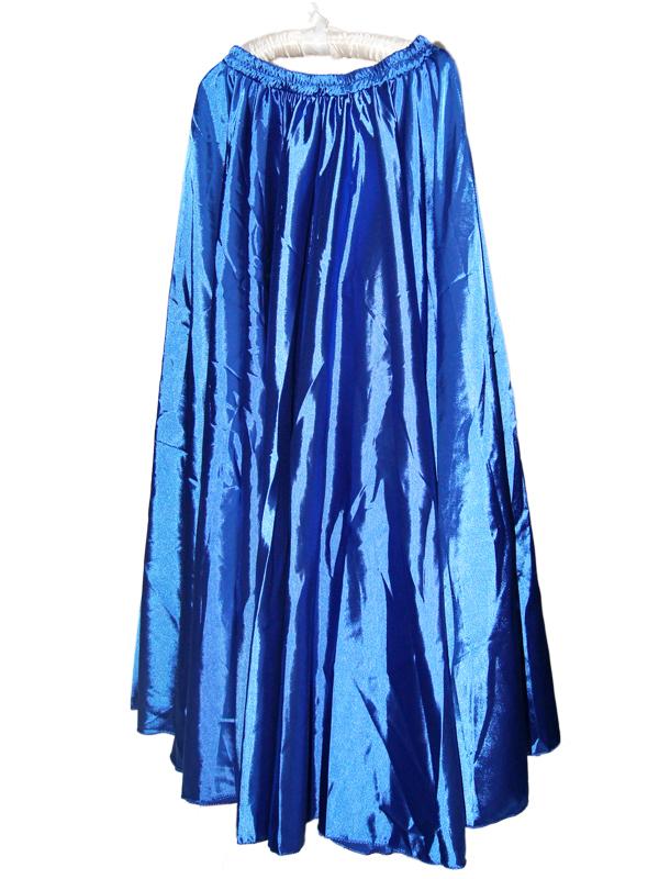 Shining Satin Long Skirt Swing Skirt Belly Dance Costume Dress