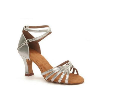 Women's Gorgeous Latin Soft Shoe Sole Ballroom Dance Shoes Dance Latin Shoes EU38 - Silver