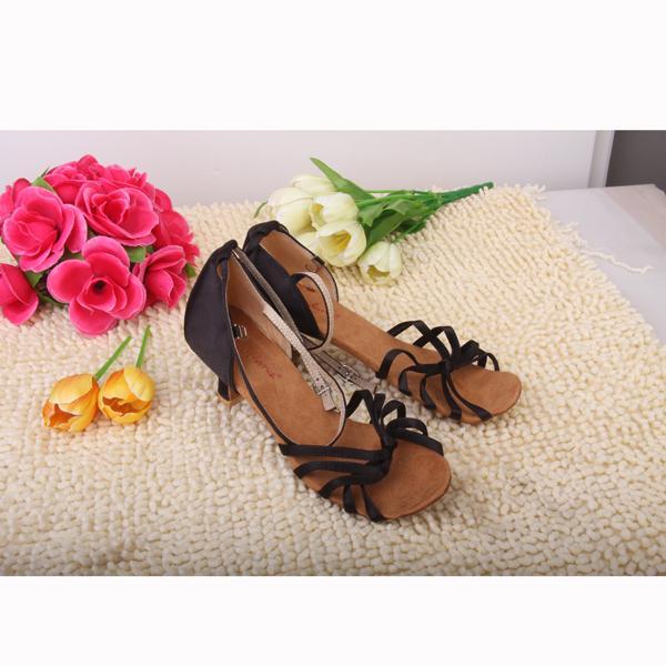 Women's Gorgeous Latin Soft Shoe Sole Ballroom Dance Shoes Dance Latin Shoes EU39 - Black