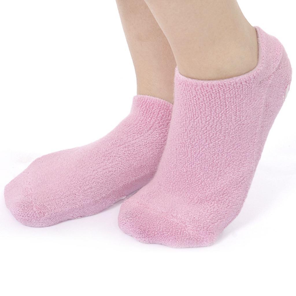 Footful Beauty SPA Moisturizing Skincare Gel Therapy Treatment Socks Pink