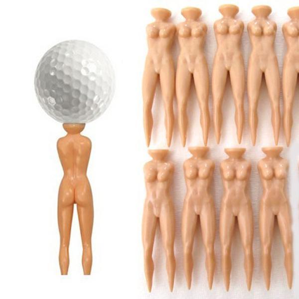 6Pcs Golf Tee Multifunction Nude Lady Divot Tools Tees