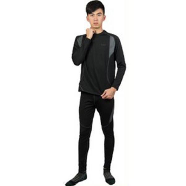 Men Outdoor Extreme Sports Suit Functional Sports Underwear Breathable Warm Thermal Underwear Black XXL
