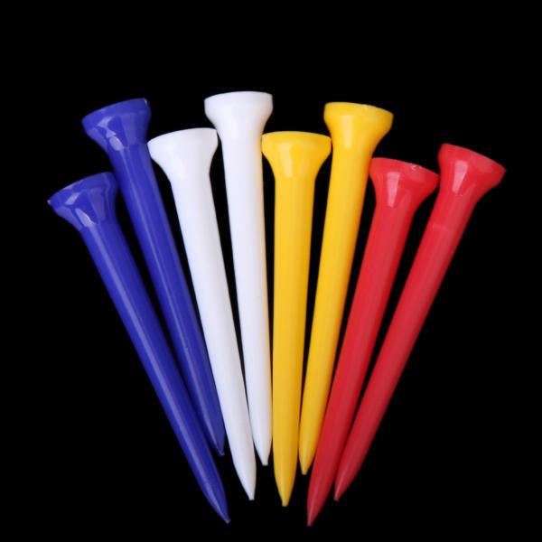 100Pcs 69mm Mixed Color Plastic Golf TEES