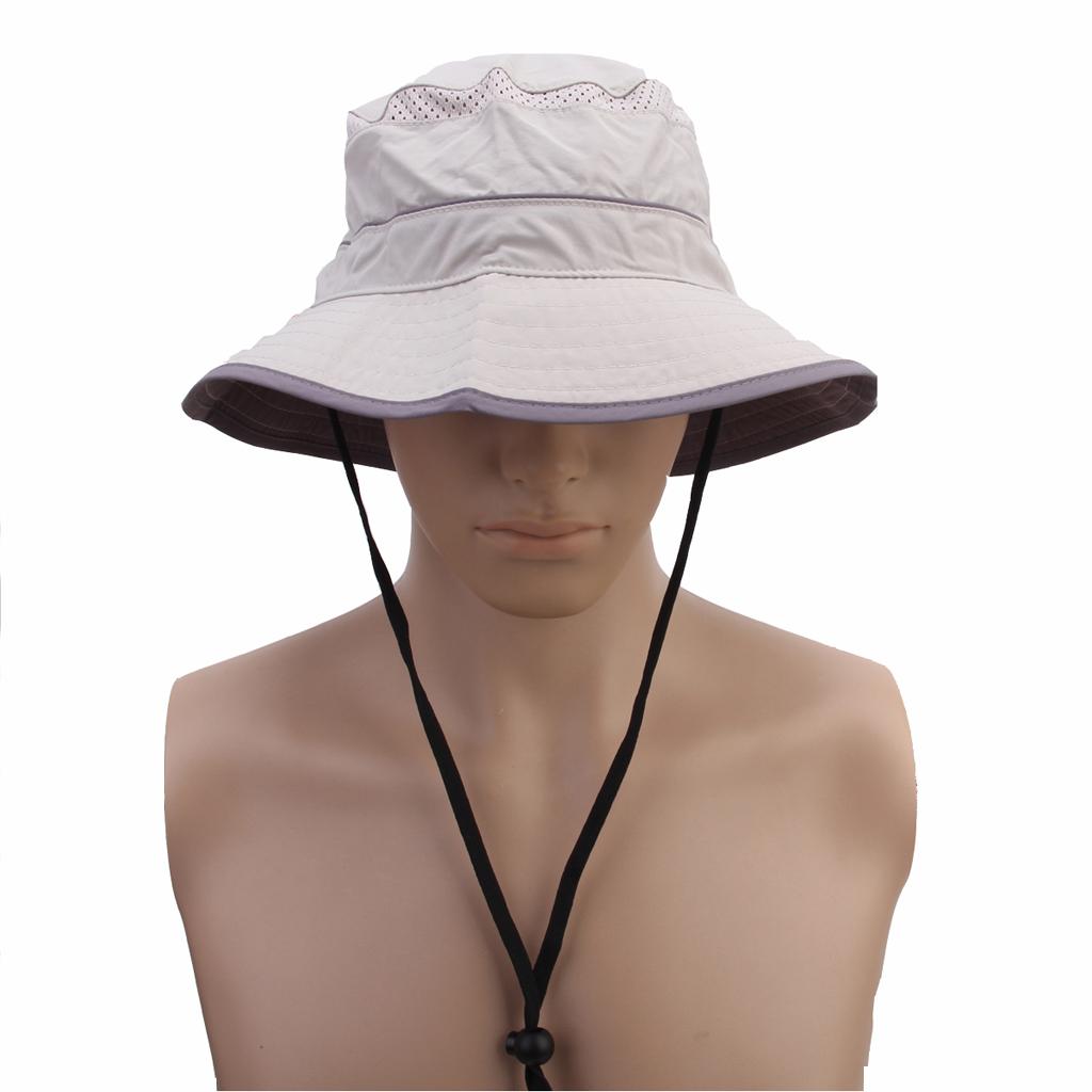 Outdoor Wide Brim Sunbonnet Sun Hat Topi - Khaki