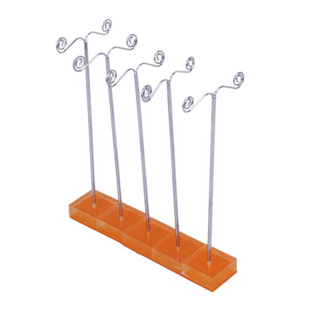 10 pcs Orange Crystal Pedestal Metal Earring Stand Holder Jewelry Display