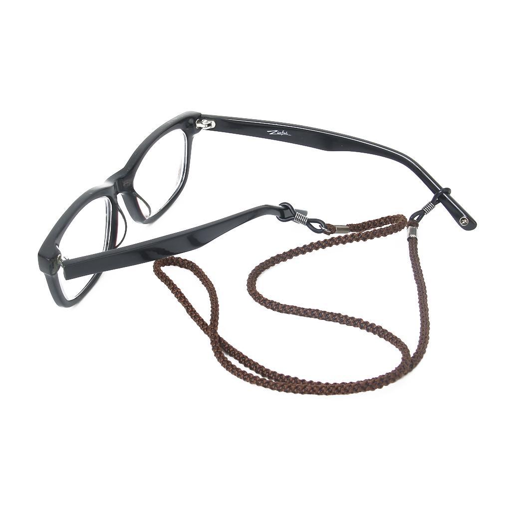 Dark Brown Nylon Neck Strap String Lanyard Cord  Sunglasses Eyeglass Chain Holder