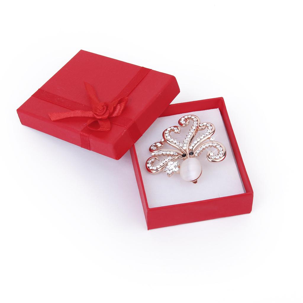 Luxury Full Crystal Rhinestone Opal Stone Octopus Brooch Pin Wedding Xmas Gift