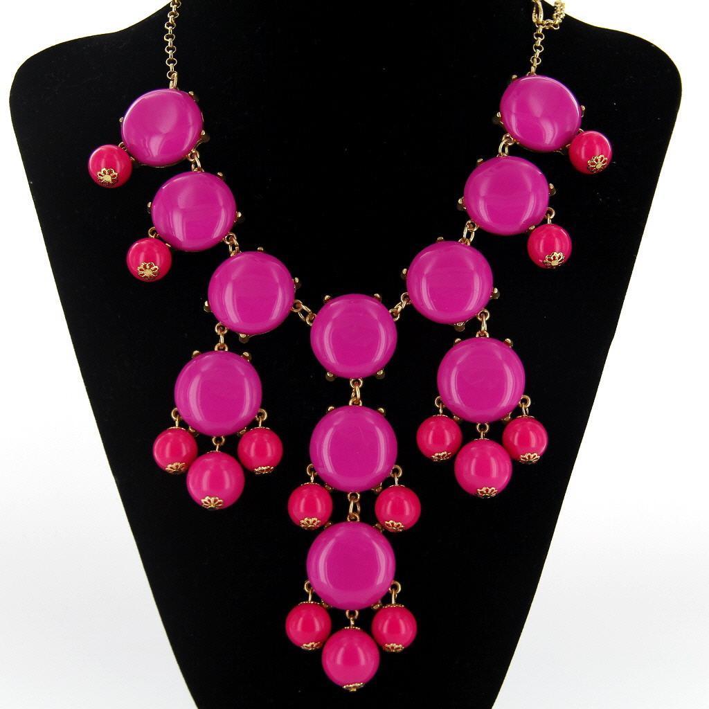 Bohemia Bib Bubble Statement Luxury Stone Beads Necklace Sweater Chain Roseo