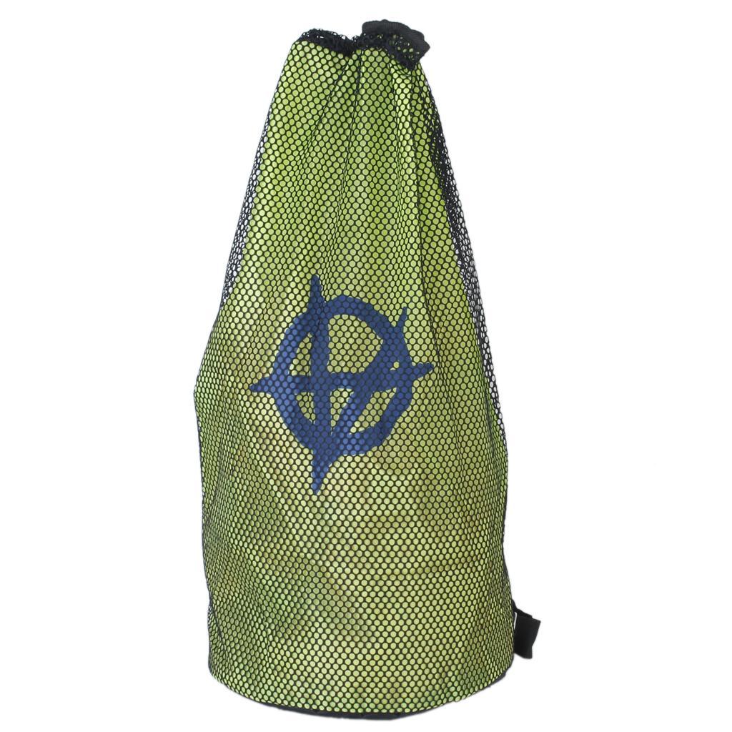 Double-layer Nylon Mesh Leisure Travel Bag Swimming Beach Backpacks Unisex Green