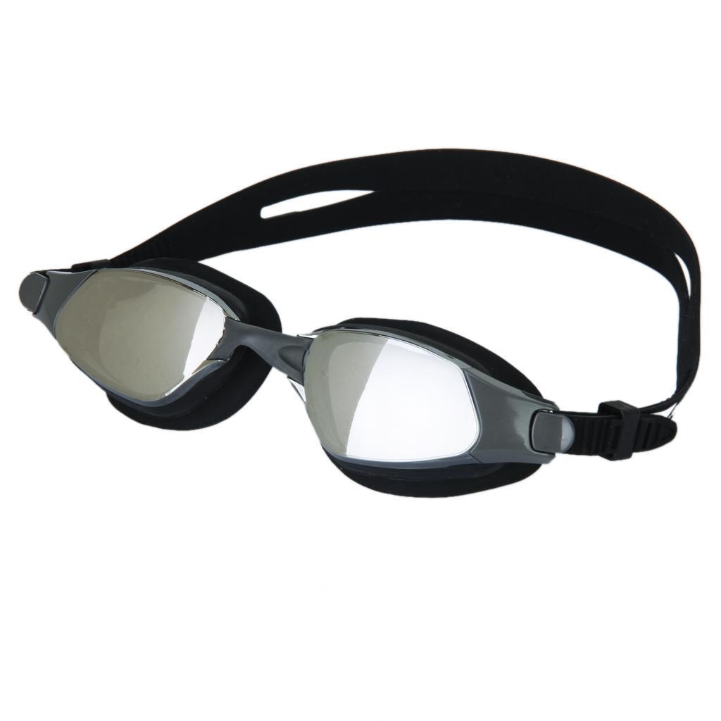 Black Adult Anti-fog Swimming Goggles Swim Anti-UV Glasses Model GT14M-1