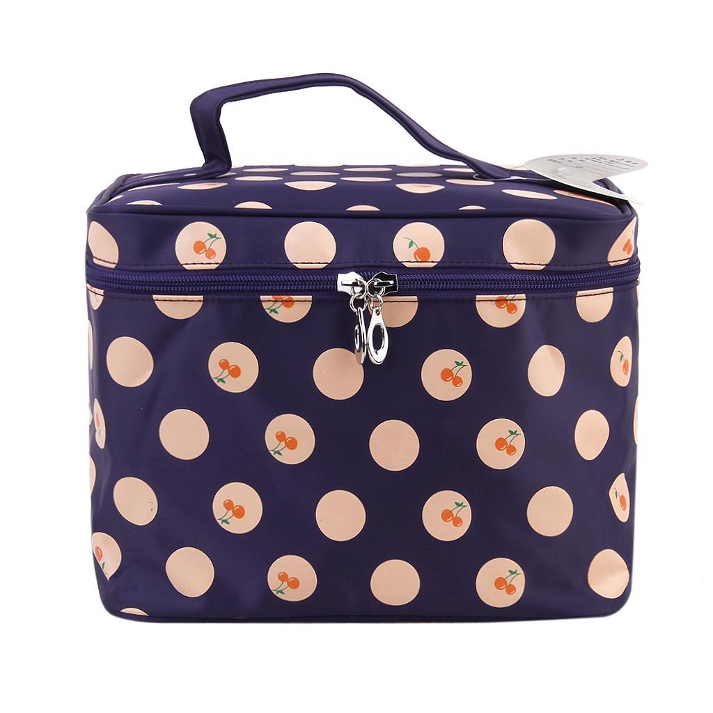 Women's Big Travel Toiletry Wash Organizer Case Cosmetic Makeup Zipper Bag - Purple