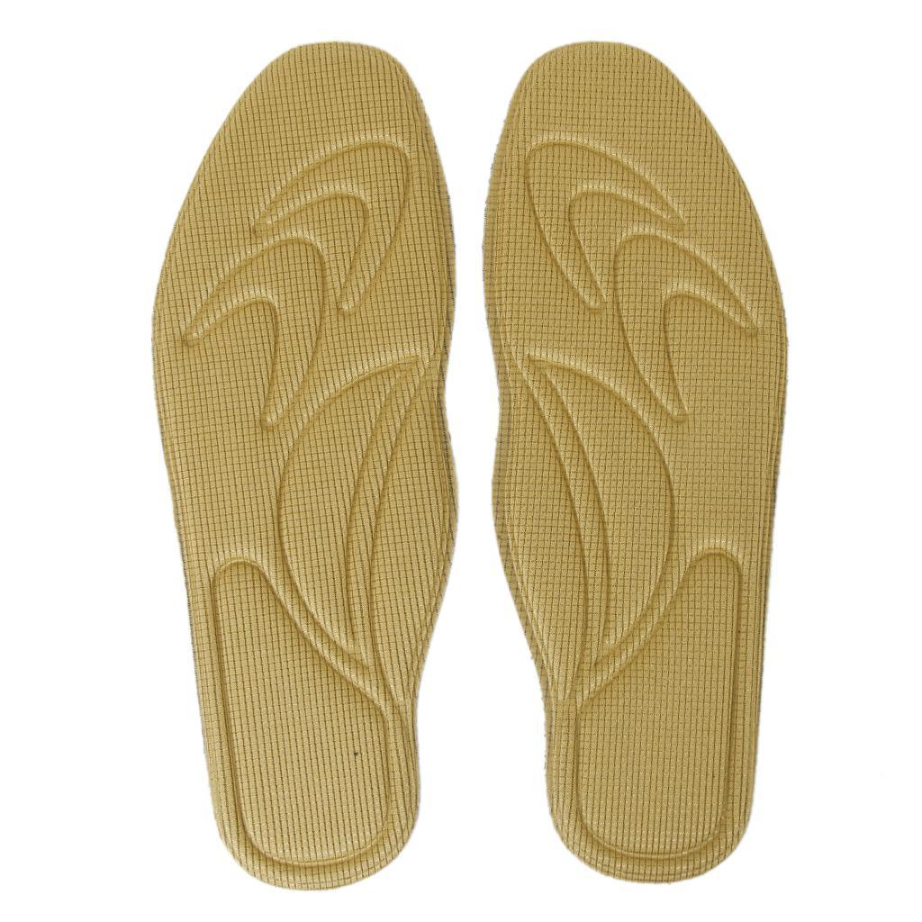 1 Pair Unisex Adjustable Foot Massaging Sport Insoles Insert Pad for Flatfoot
