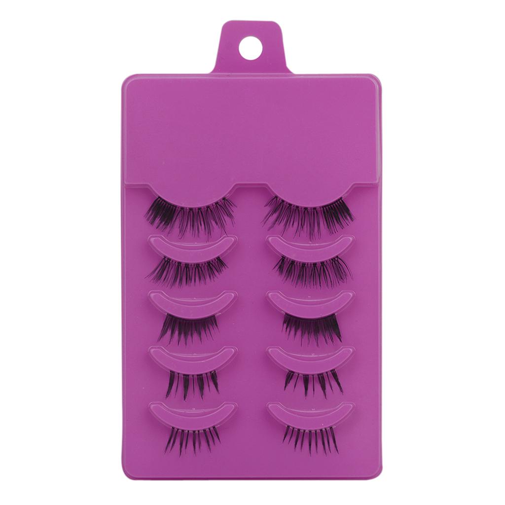 5 Pairs Handmade Natural False Eyelashes Eye Lashes Make Up Party