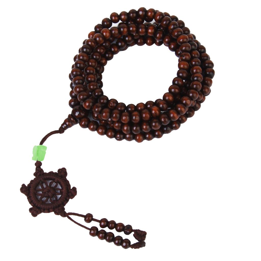 Tibetan Sandalwood 216pcs beads Buddha Mala Buddhist bracelet necklace
