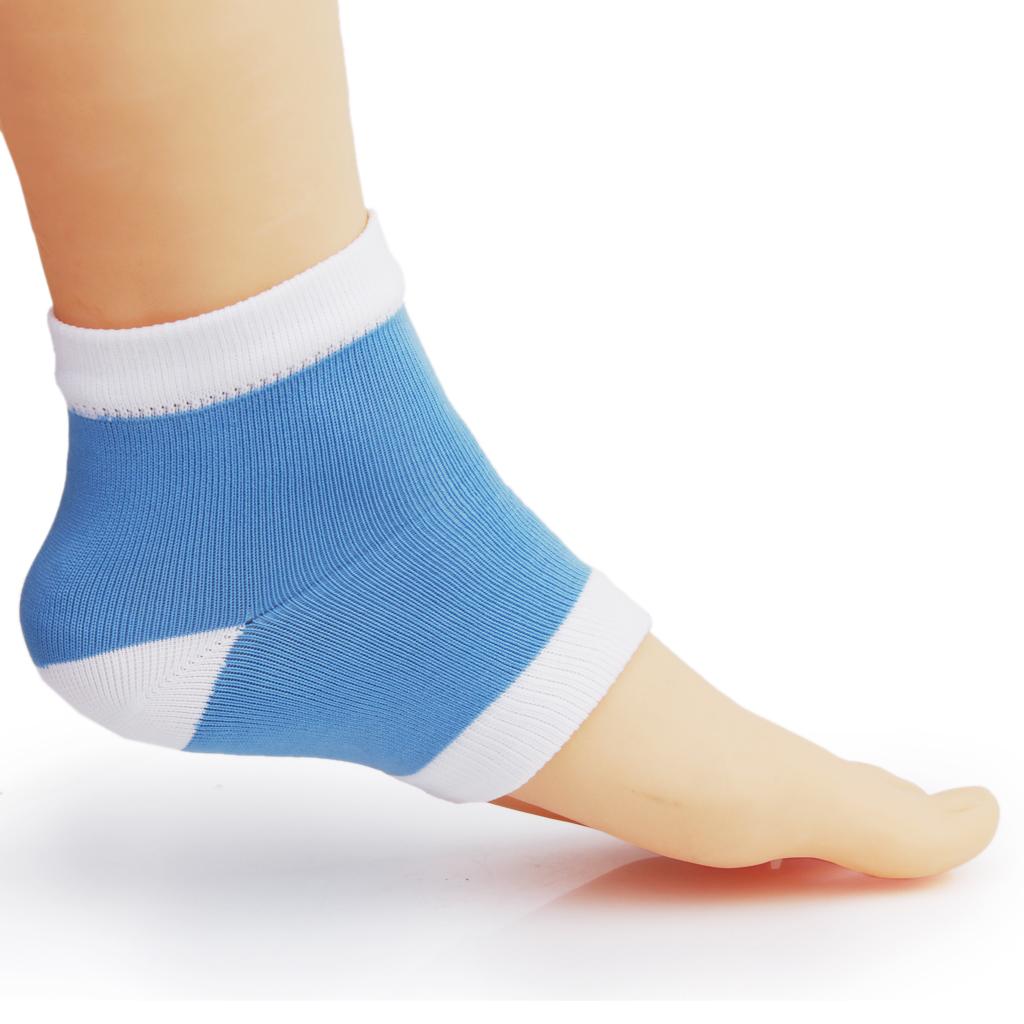 Footful Gel Heel Dry Hard Cracked Skin Moisturising Open Toe Socks Pain Relief