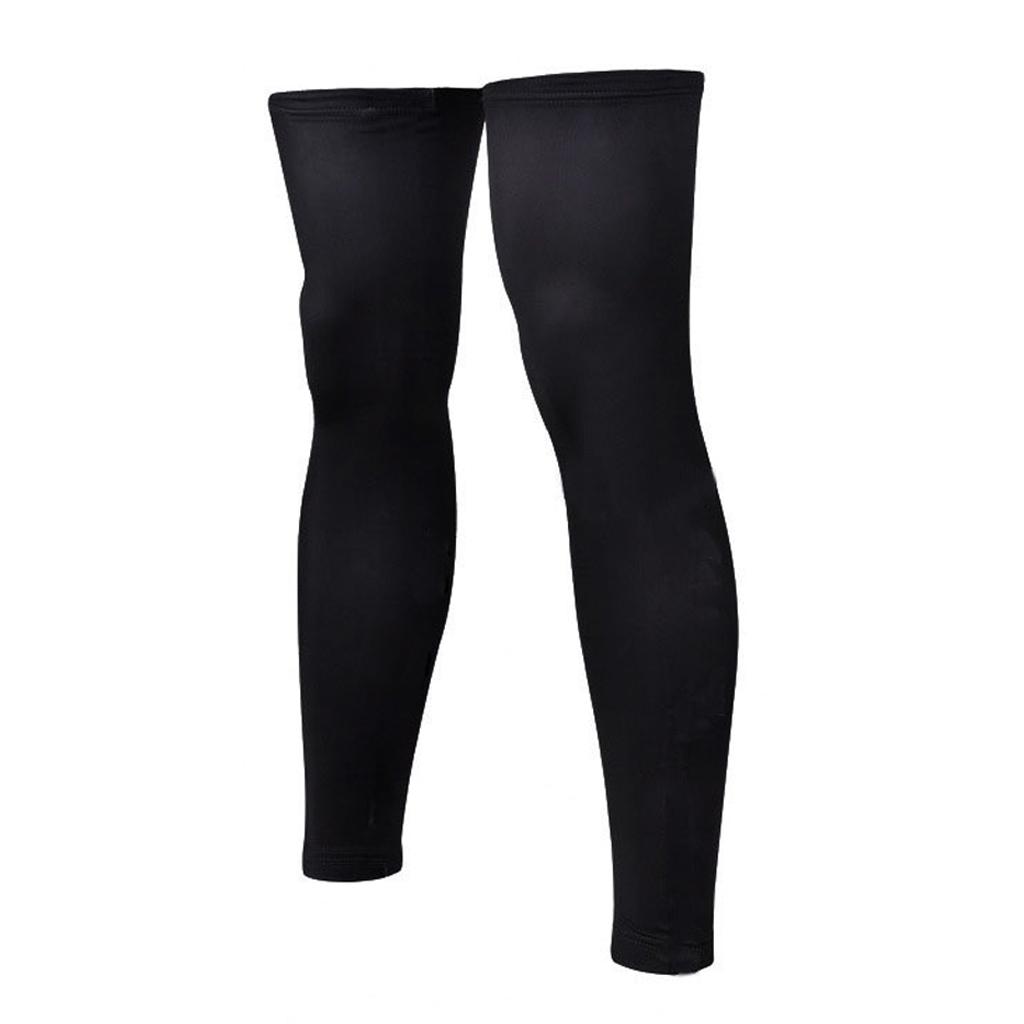 1 Pair Black Sport Football Basketball Cycling Strech Leg Knee Long Sleeve Size M