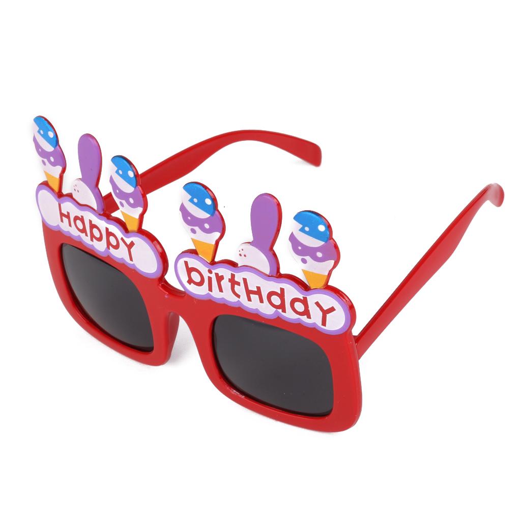 Fashion Birthday Cake Shaped Sunglasses Party Costume Eyewear Gog...