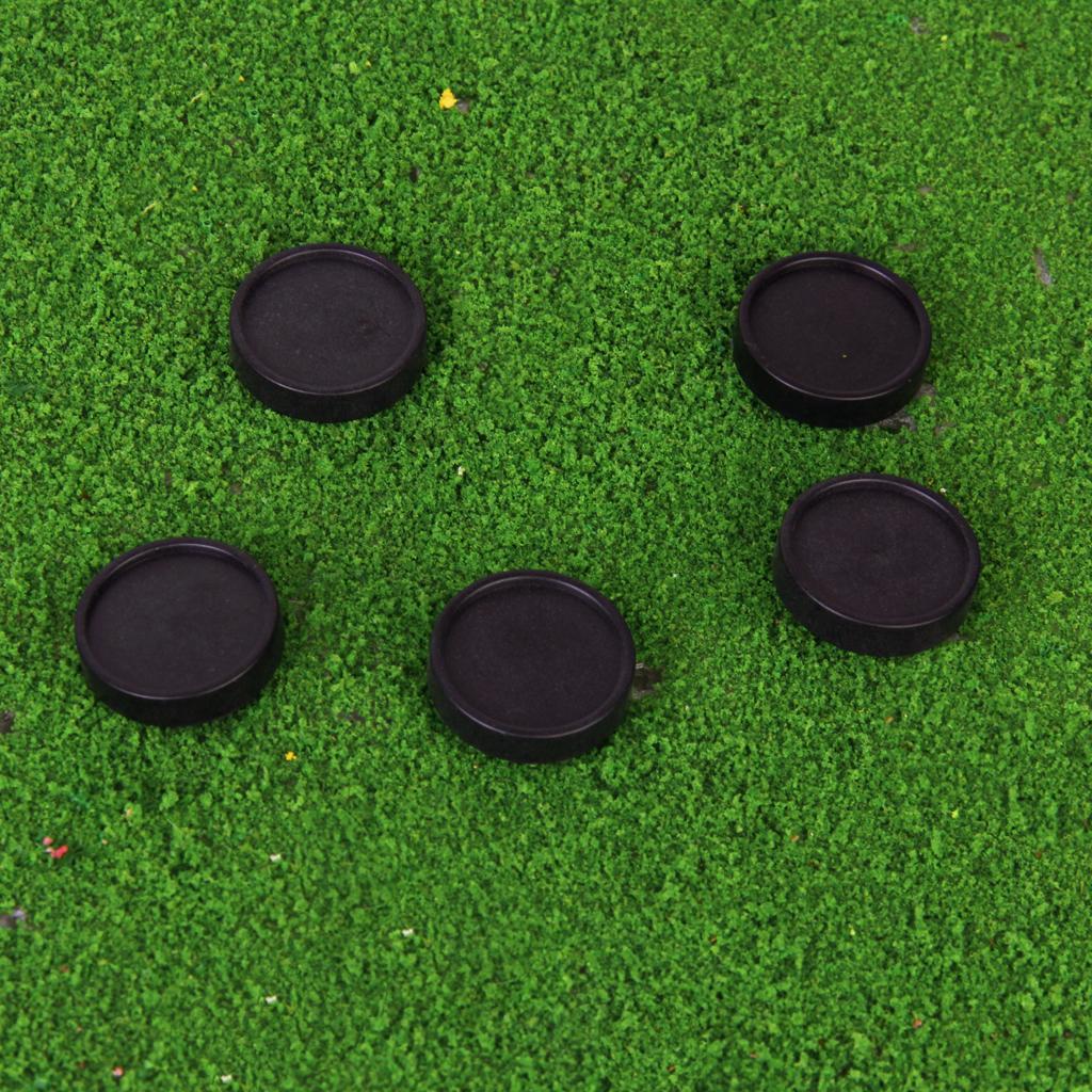 5pcs Plastic Golf Ball Markers Golfer Training Aid Xmas Gift Black