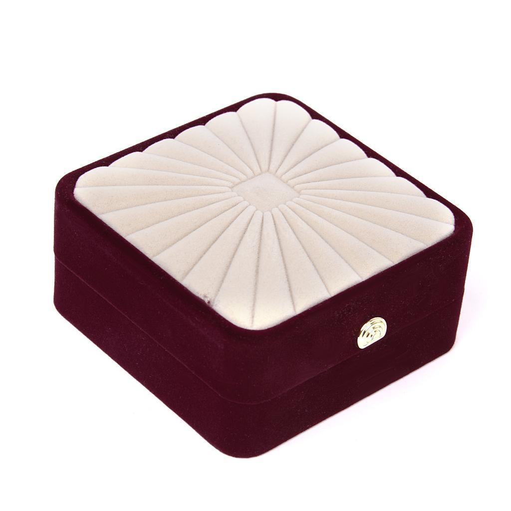 Square Velvet Bracelet Bangle Jewelry Storage Gift Box Holder Organizer Case