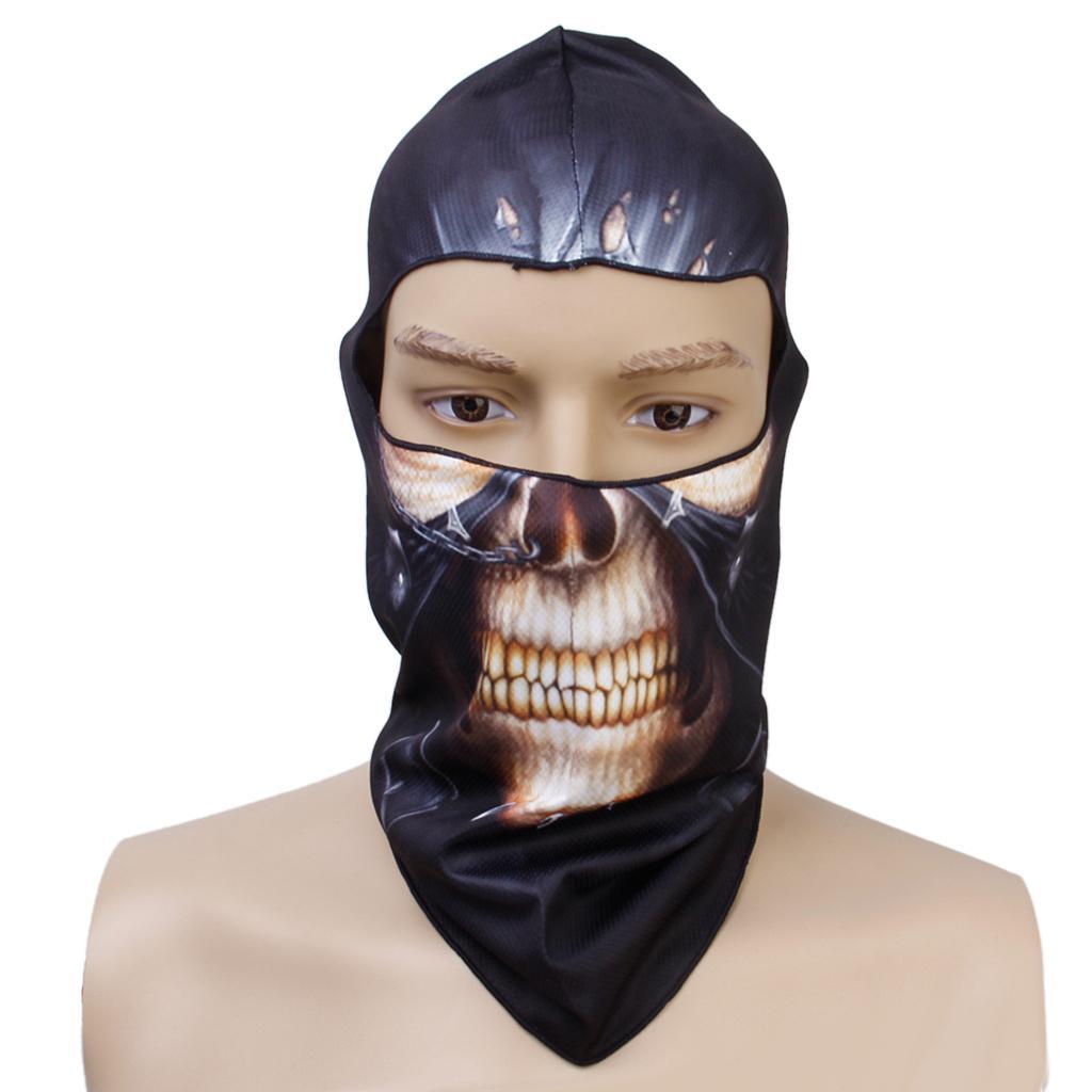 Punk Skull Halloween Outdoor Cycling Fishing Full Face Head Cover Hood Protector UV Cap Hat