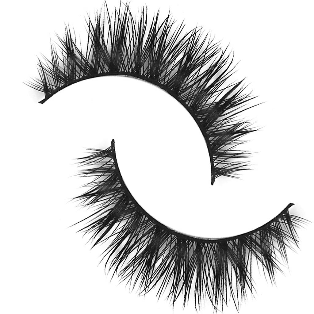 1 Pair Handmade Natural Soft Hair Thick Eye Lashes False Eyelashes-D-7