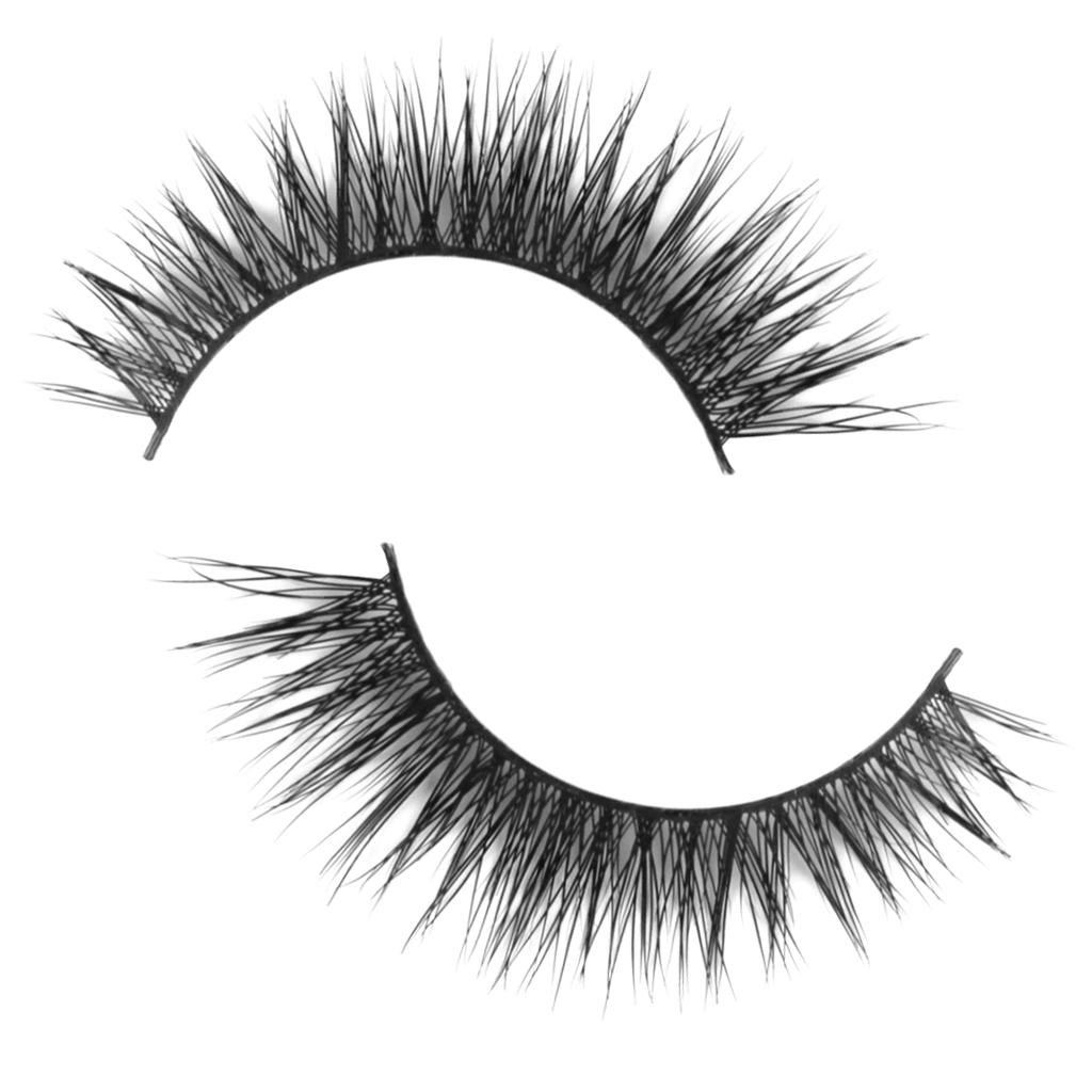 1 Pair Handmade Natural Hair Thick Fake Eye Lashes False Eyelashes D-5