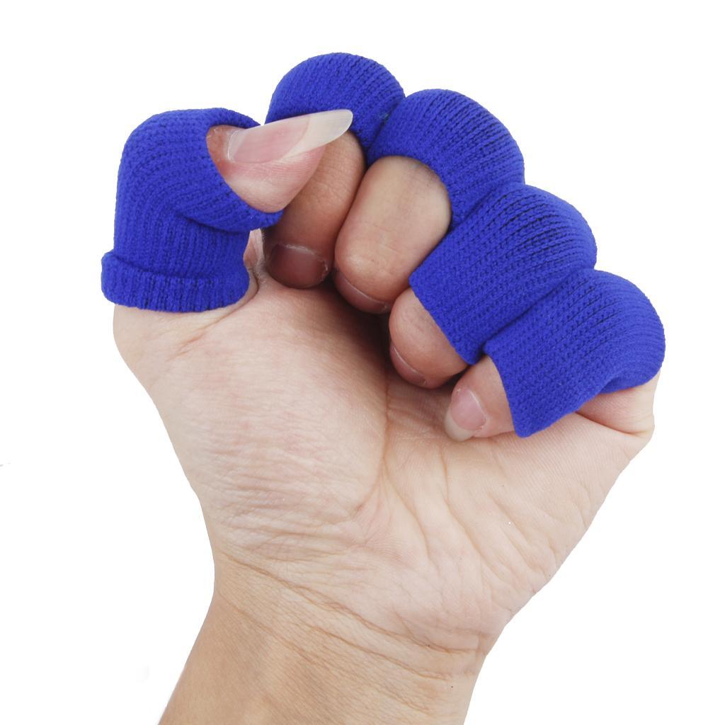 Elastic Nylon Finger Protective Sleeves Guard Pain Relief 10pcs