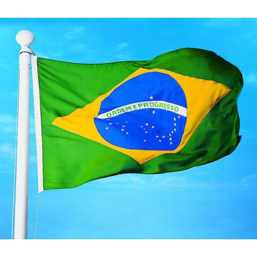 Large Brazil National Flag Brazilian Football Banner 150*90CM / 5*3FT