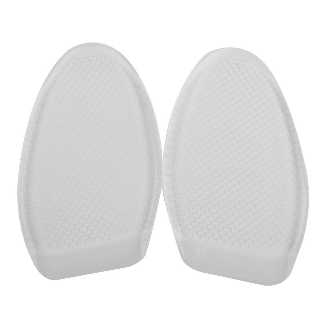 Footful Gel Forefoot Cushion Half Insoles Anti-Slip Massage Shoe Pads Clear