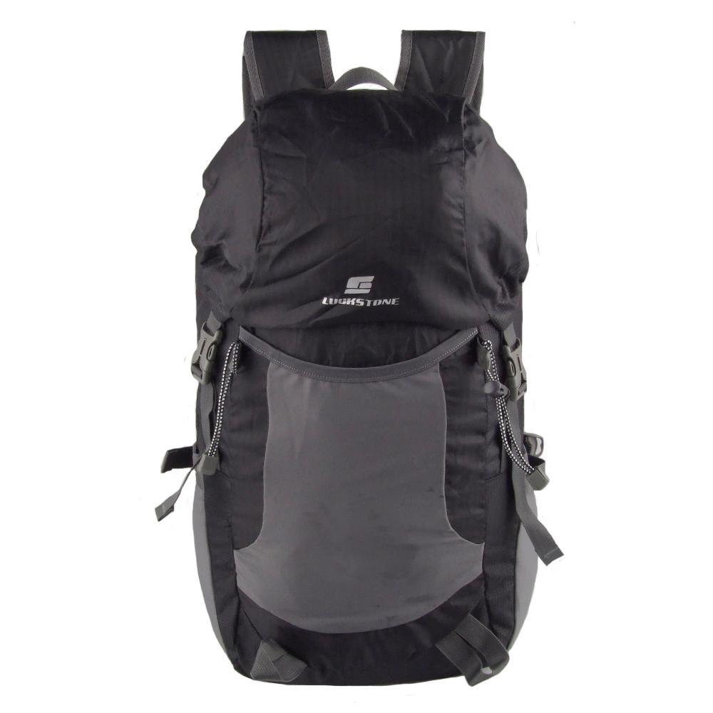 Waterproof Nylon Foldable Backpack Climbing Travel Shoulders Bag 35L Black
