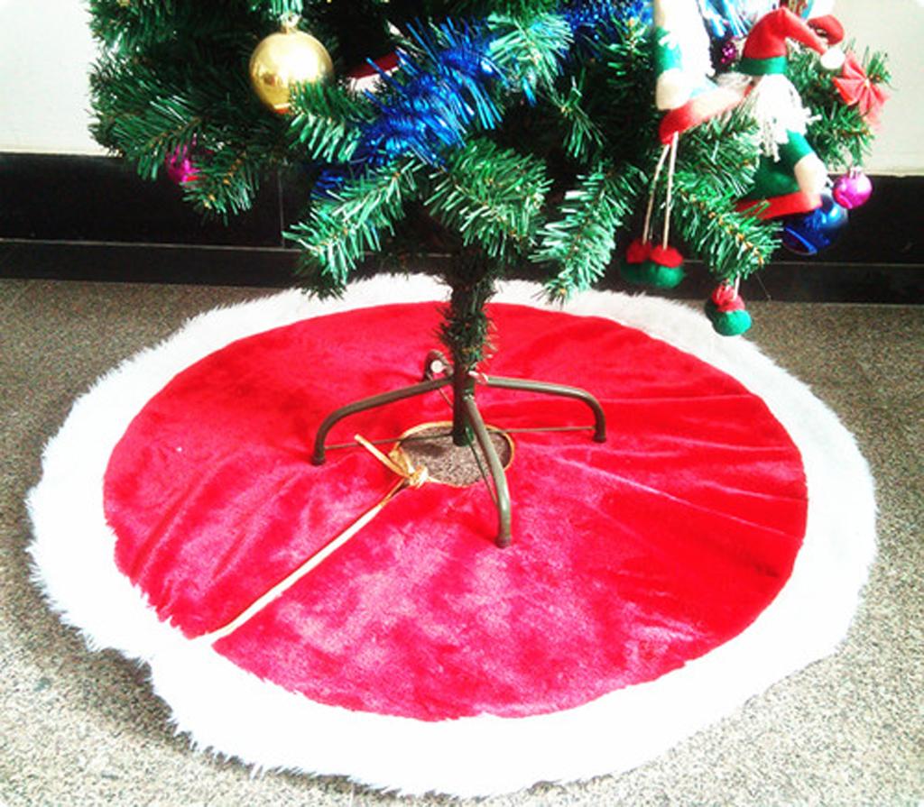 118cm Christmas Tree Plush Fabric Skirt Xmas Party Decoration