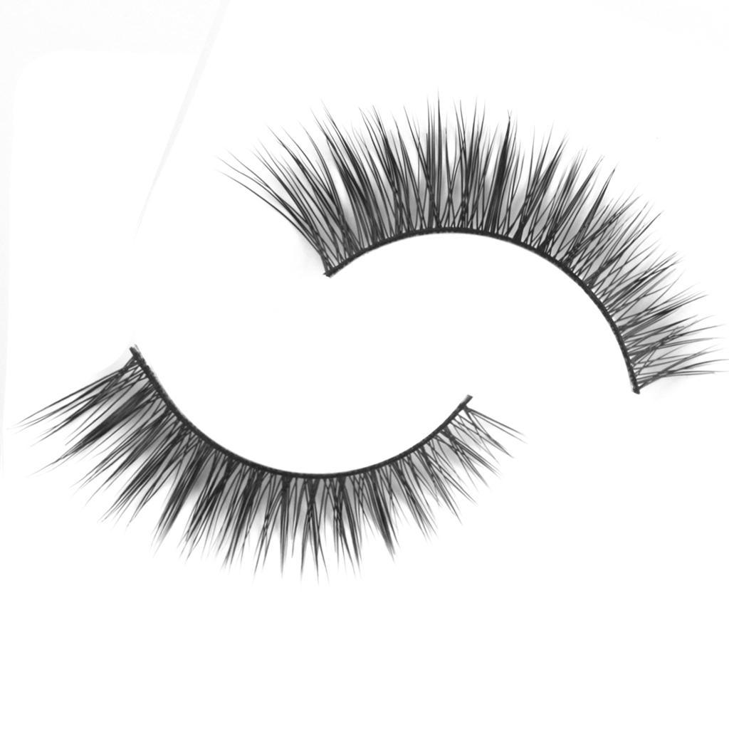 1 Pair Handmade Natural Long Eye Lashes False Eyelashes D-12