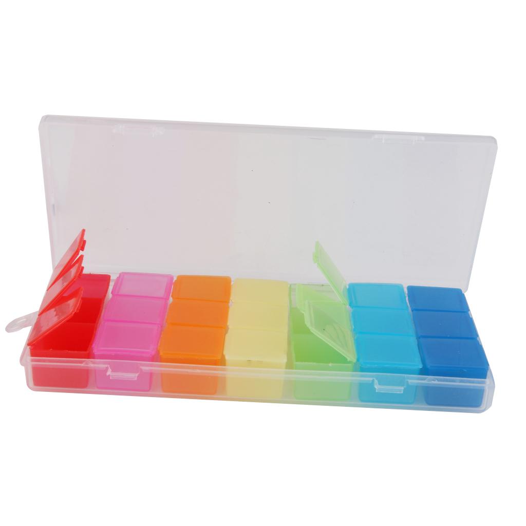 7 Colors Pill Case Jewelry Medicine Storage Box Container Organizer Holder
