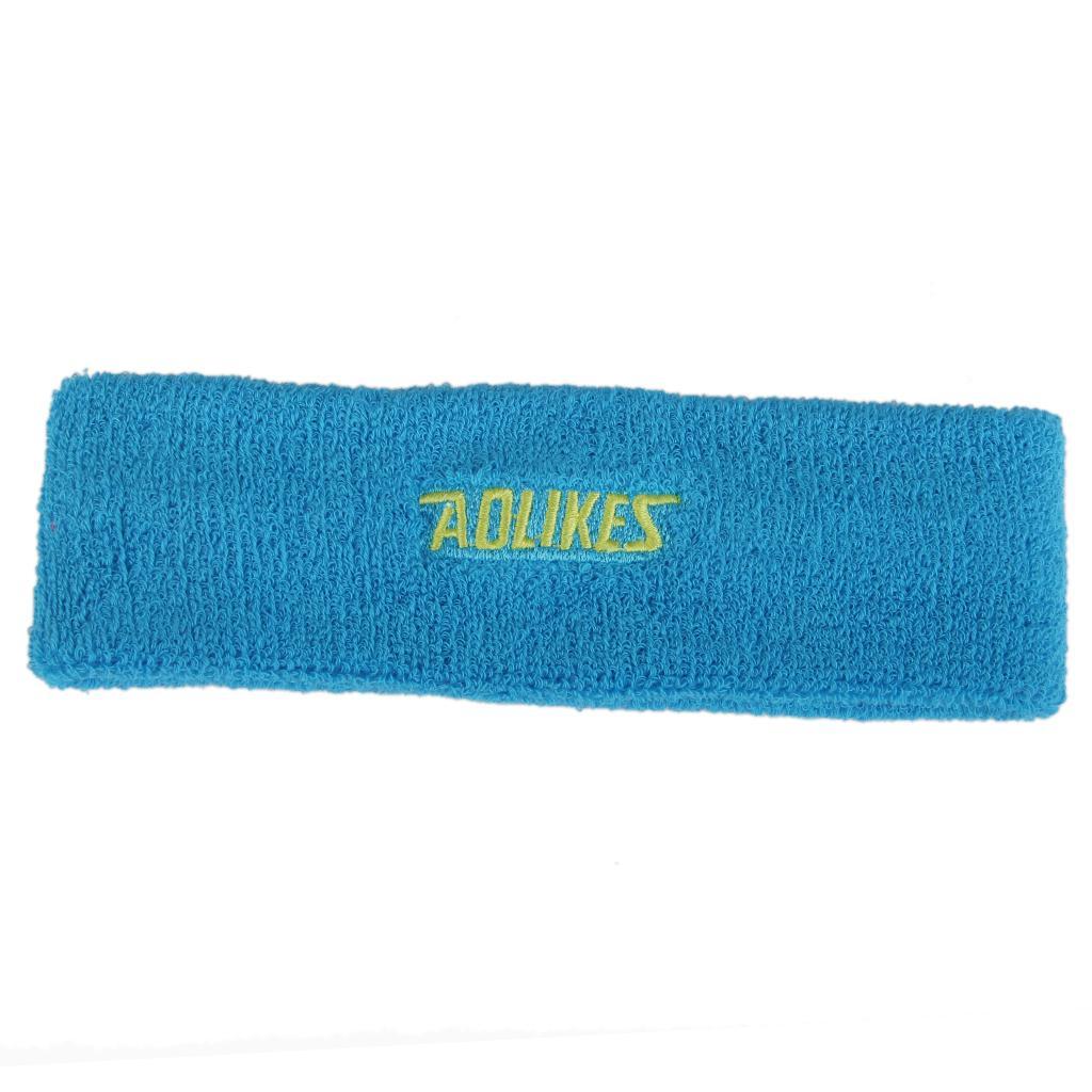 Yoga Sports Sweatband Headband Elastic Hair Band Accessories - Sky blue