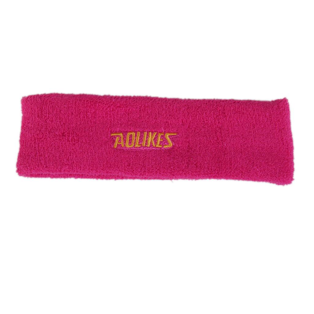 Yoga Sports Sweatband Headband Elastic Hair Band Accessories - Rose