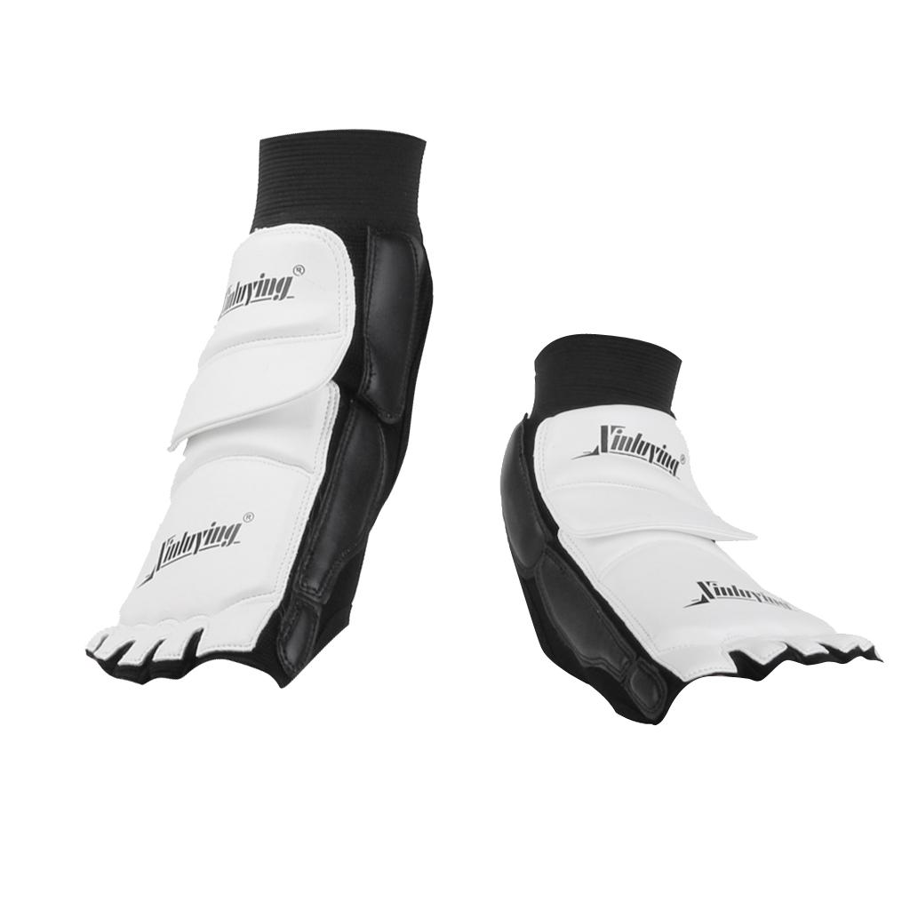 Pair Taekwondo Foot Protector MMA Karate Foot Pads Sparring Gear - XXL