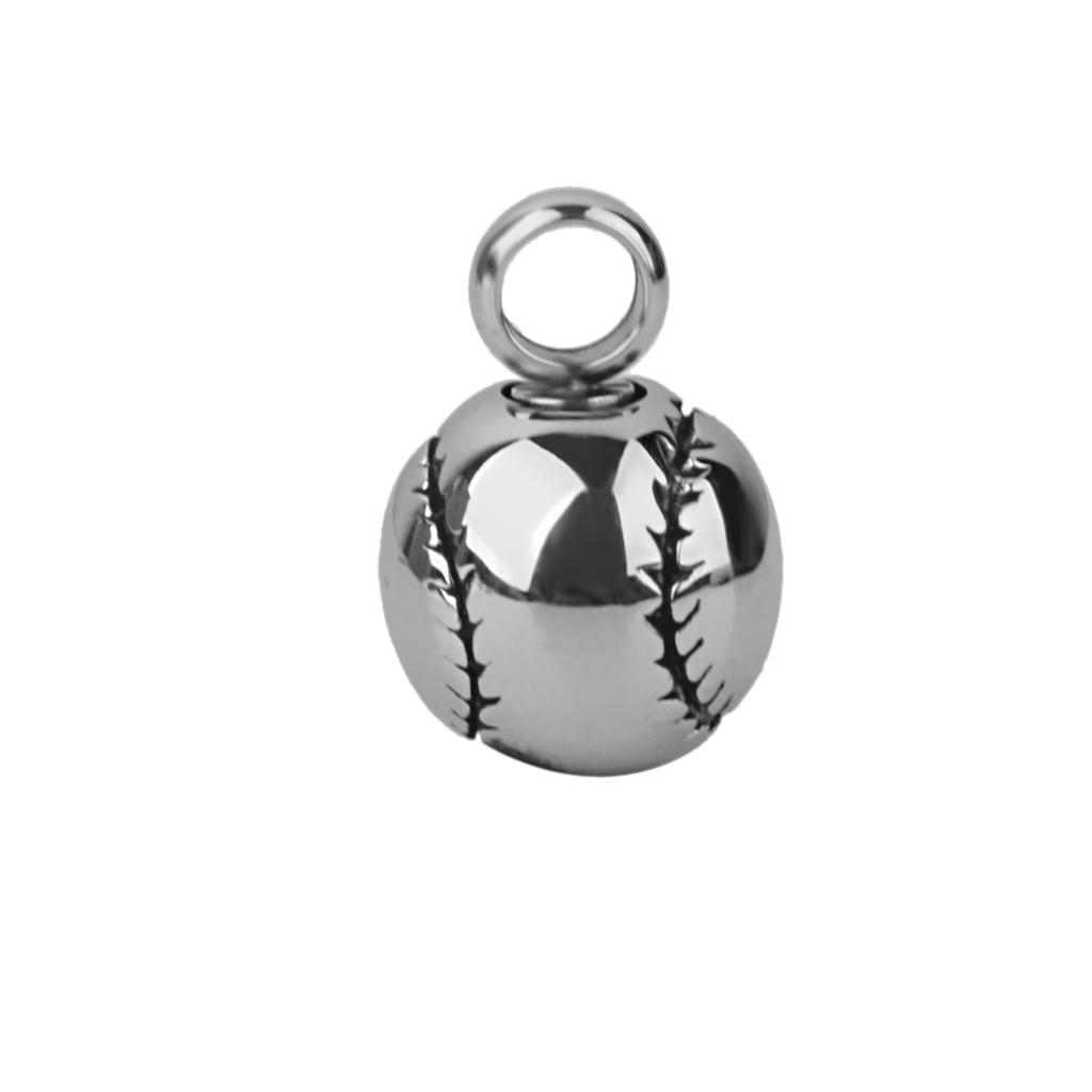Heart Design Baseball Cremation Pendant Urn keepsake Pet Ash Holder