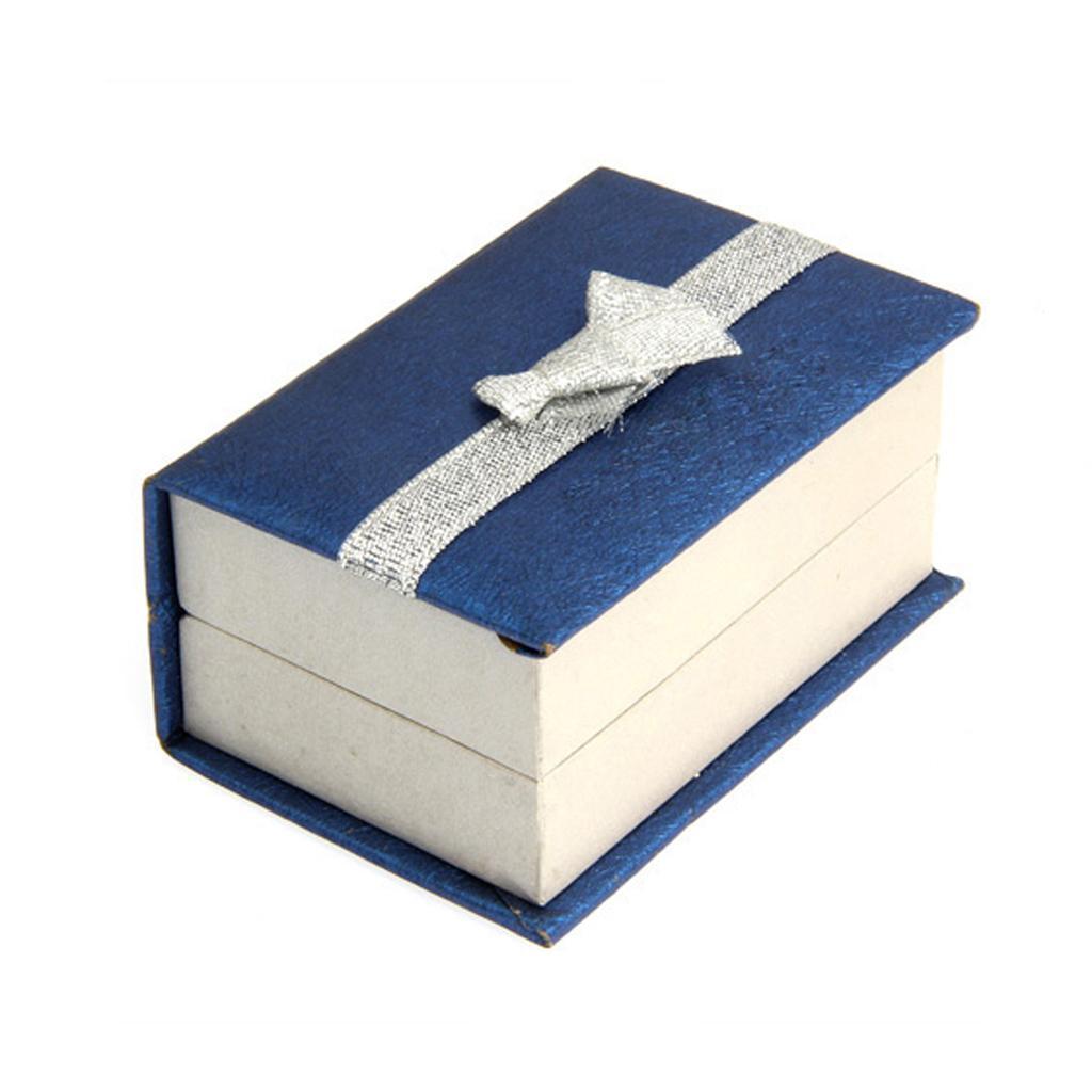 1 Pair Cuff Links Cufflinks Holder Paper Box Mens Jewelry Gift Box Blue
