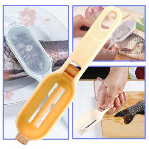 Fish Scale Scaler Cleaner Skin Remover Skinner Peeler