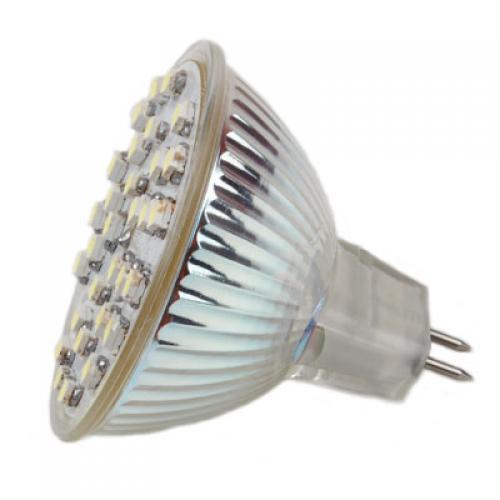 MR16 GU5.3 12V 2.2W Warm White 30 SMD 3528 LED Spotlight Bulb