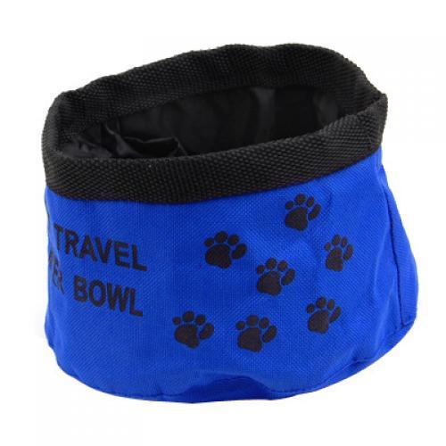 Foldable Travel Pet Dog Cat Water Food Bowl Dish Random Color