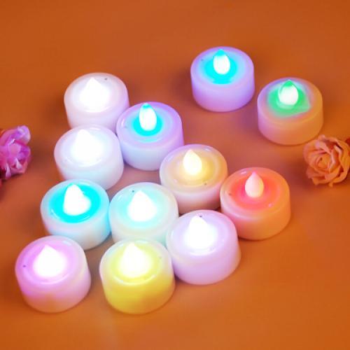 12pcs Blow Out LED Candle Wedding Party Favor Decor - Changing Color