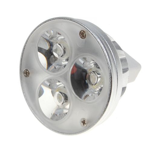 MR16 Day White 12V 3W 3 LED Light Lamp 270LM