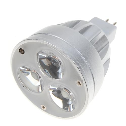 3 X 2W LED 270 Lumen White Light Lamp MR16 Spotlight 12V