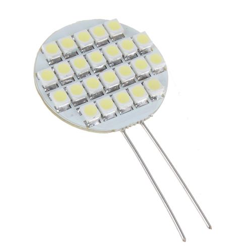 12V 24 SMD LED G4 Base White Camper Marine Light Bulb