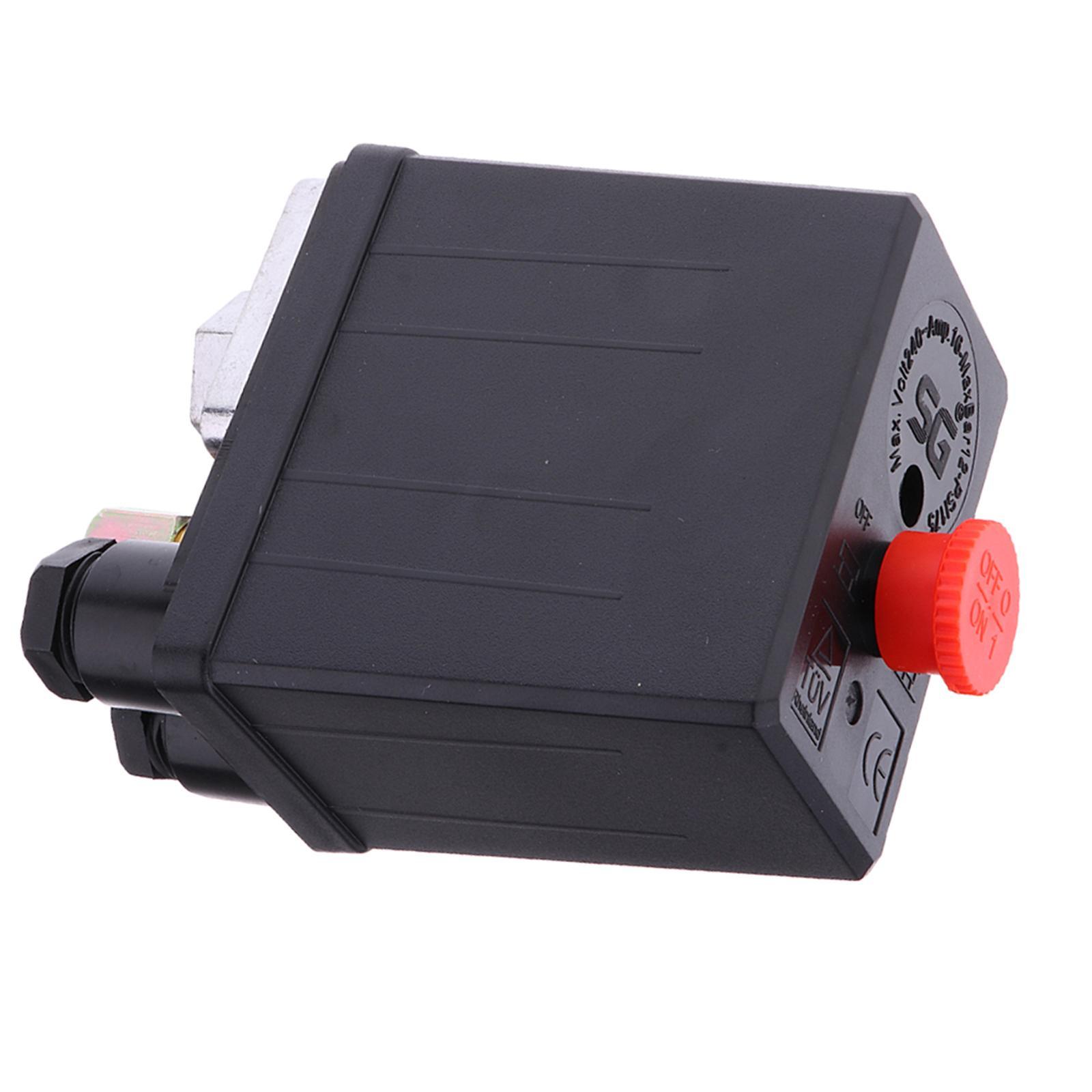 Uniporous Air Compressor Pressure Switch Control Valve 175PSI 240V