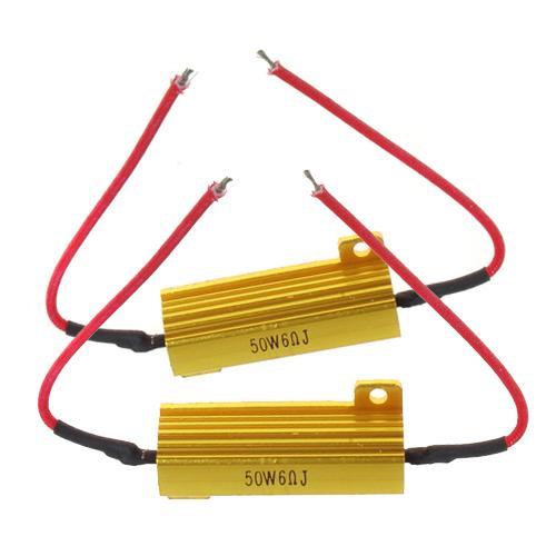 2 Pcs 50W 6ohm Load Resistor for Car Turn Signal LED Bulb