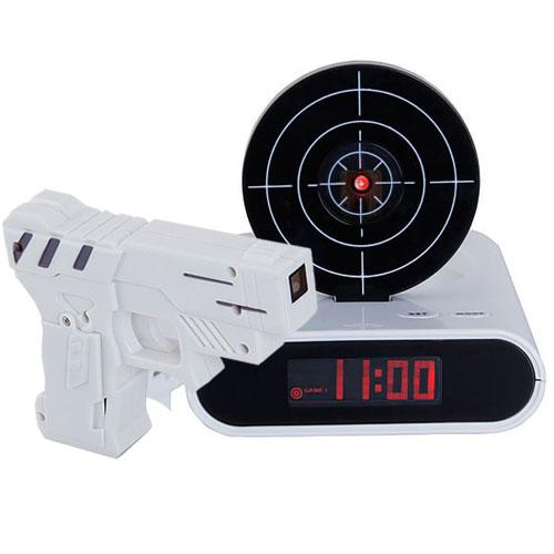 Gun Target Alarm Desk Clock Gadget