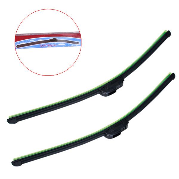 2x 24inch Car Windshield Soft Wiper Blade