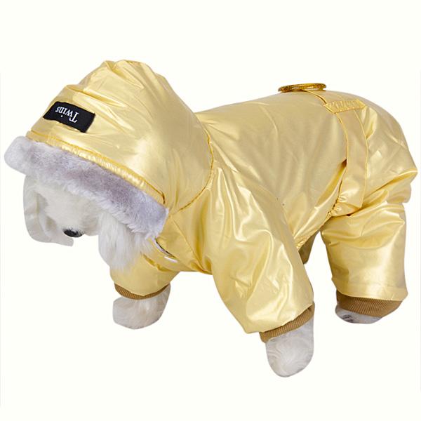 Pet Dog Hoodie Hooded Winter Coat Jump Suit - Size L